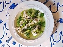 Fischsuppe mit Spargel